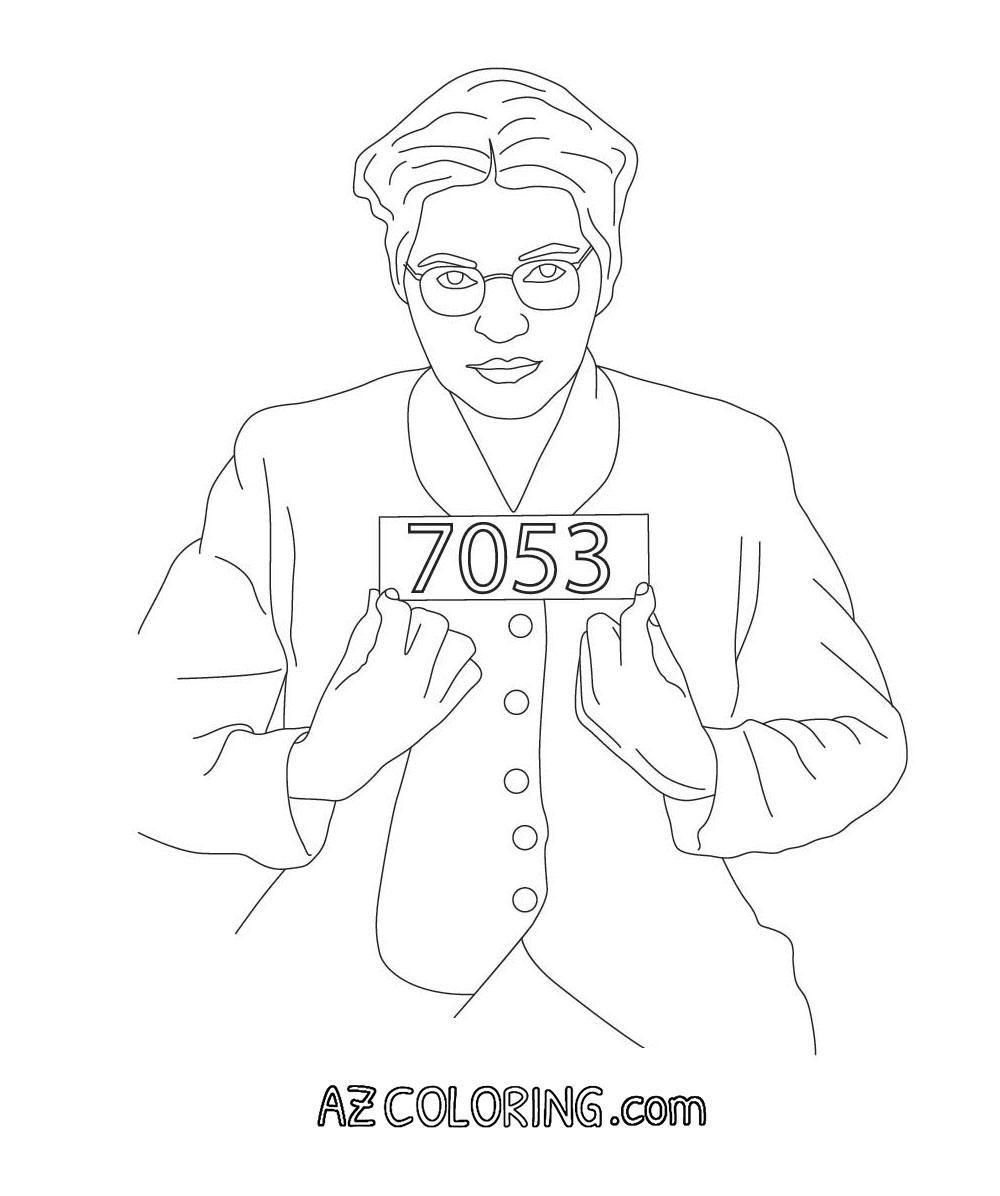 1000x1196 Coloring Sheet Rosa Parks Coloring Sheet