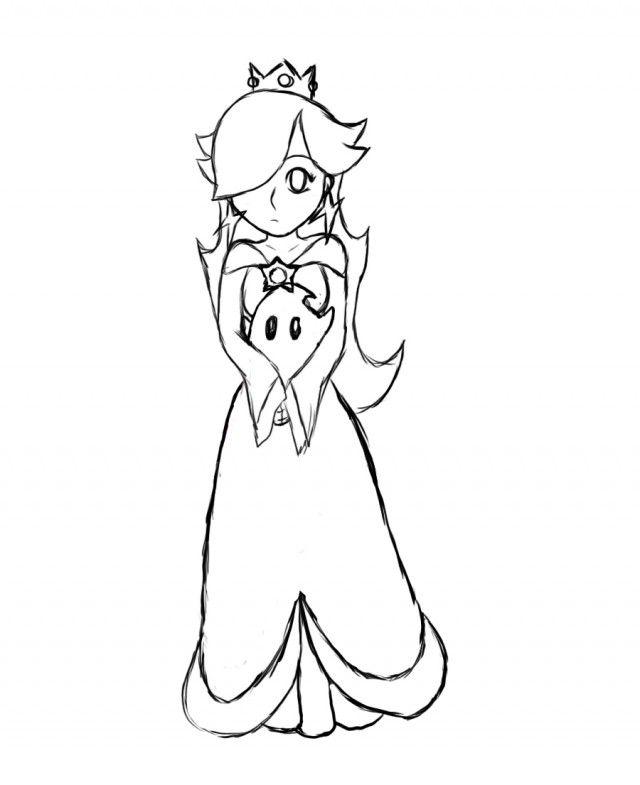 640x785 Princess Rosalina Coloring Pages