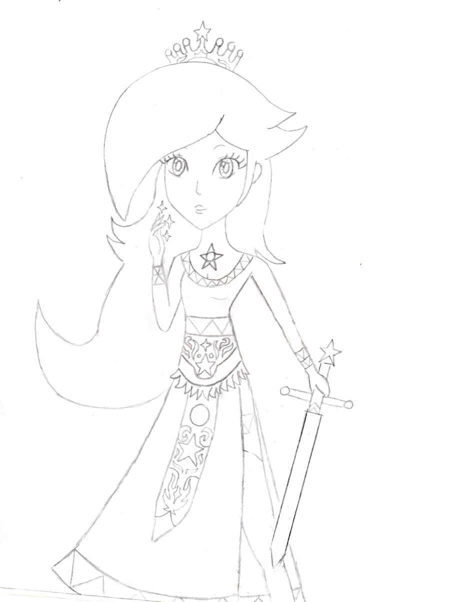900x1203 Princess Rosalina Drawing By Xdanique97
