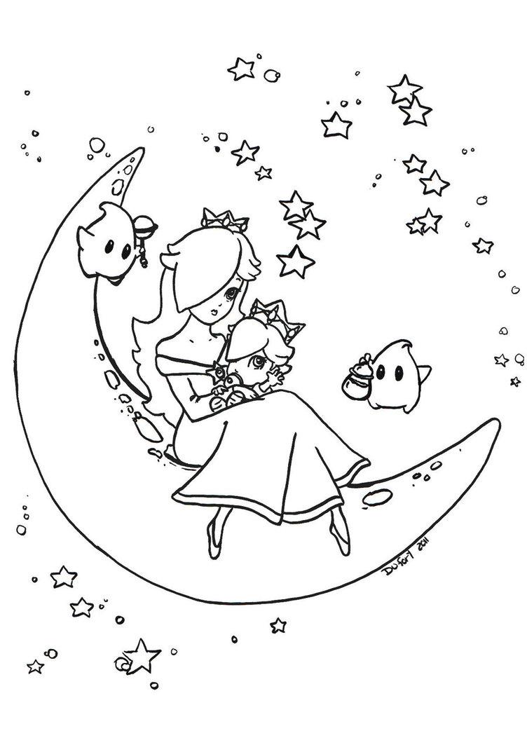 752x1063 Rosalina And Baby Rosalina By Jadedragonne