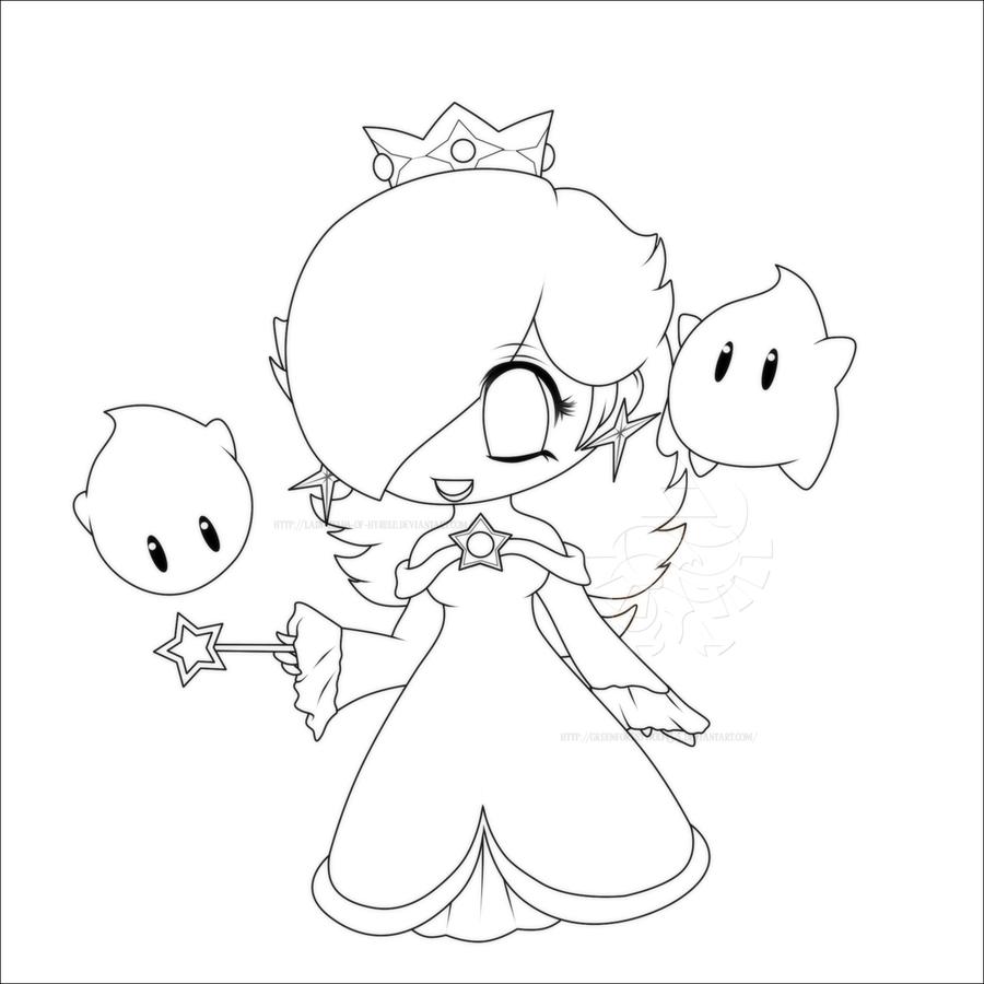 900x900 Chibi Rosalina Lines By Lady Zelda Of Hyrule