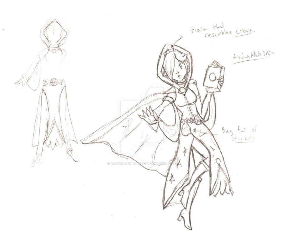 964x829 Smash X Fe Rosalina Mage Sketch By Aydanadub1863