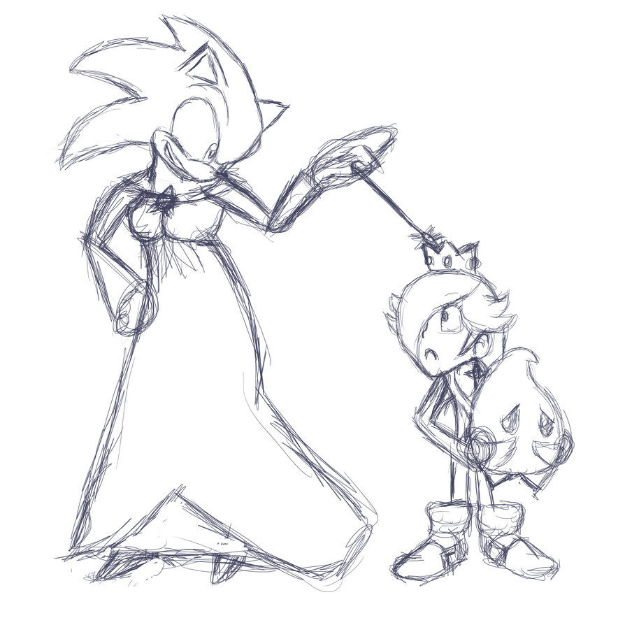 894x894 Sonic And Rosalina Head Swap Rough Sketch By Palette The Painter