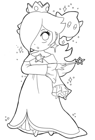 326x480 Cute Baby Rosalina Coloring Page Free Printable Coloring Pages