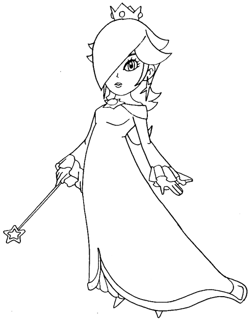 500x644 How To Draw Rosalina From Wii Mario Kart Step By Step Drawing