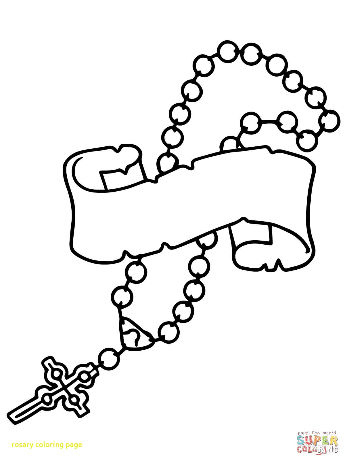 1200x1600 Rosary Coloring Page With Rosary Beads Coloring Page