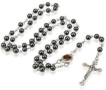 355x301 Gorgeous 27 Black Hematite Jerusalem Soil Rosary