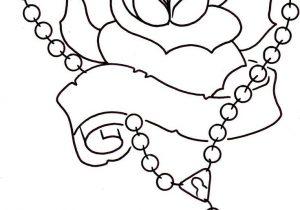 300x210 Rosary Beads Tattoo Drawing Rosary Bead Cross With Heart Tattoo