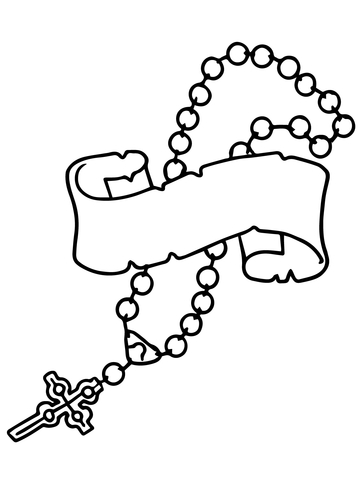 360x480 Rosary Beads Coloring Page Free Printable Coloring Pages
