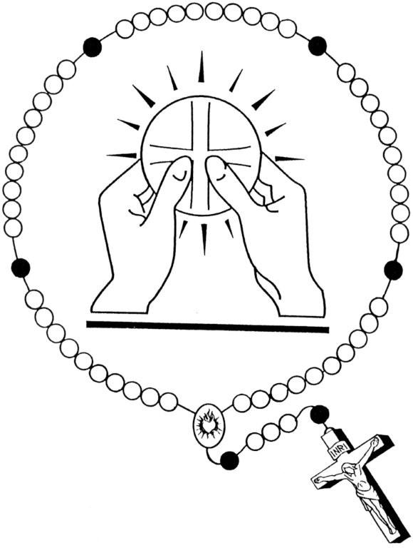 580x768 Holy Eucharist And Rosary Catholic Coloring Page