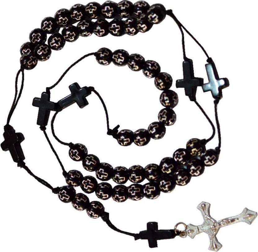 832x813 Men Style 8mm Thick Catholic Rosary Jesus Cross Pendant Anku003008