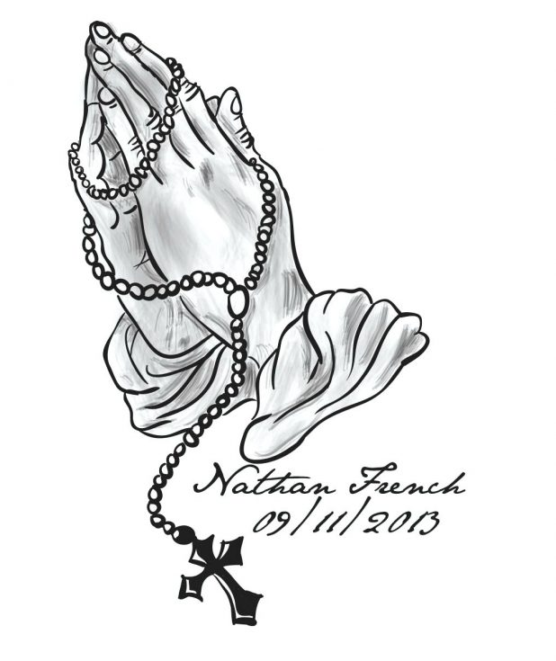 618x735 Praying Hands By Free Clip Art Images Printable Rosary Beads