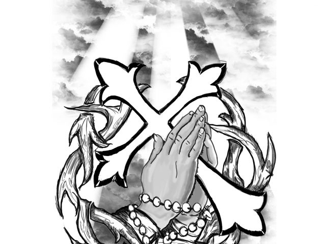 640x480 Rosary Beads Tattoo Drawing Rosary Beads Tattoo Designs