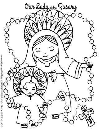 319x416 Rosary Coloring Page Moms Coloring Pages You Are Going To Love