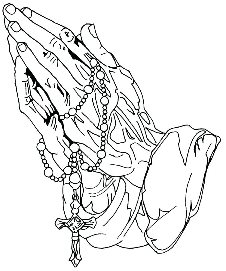 752x900 Rosary Coloring Pages Catholic Mom Rosary Coloring Page Praying