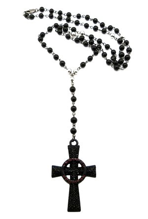 300x445 Cheap Black Rosary Bead Necklace, Find Black Rosary Bead Necklace
