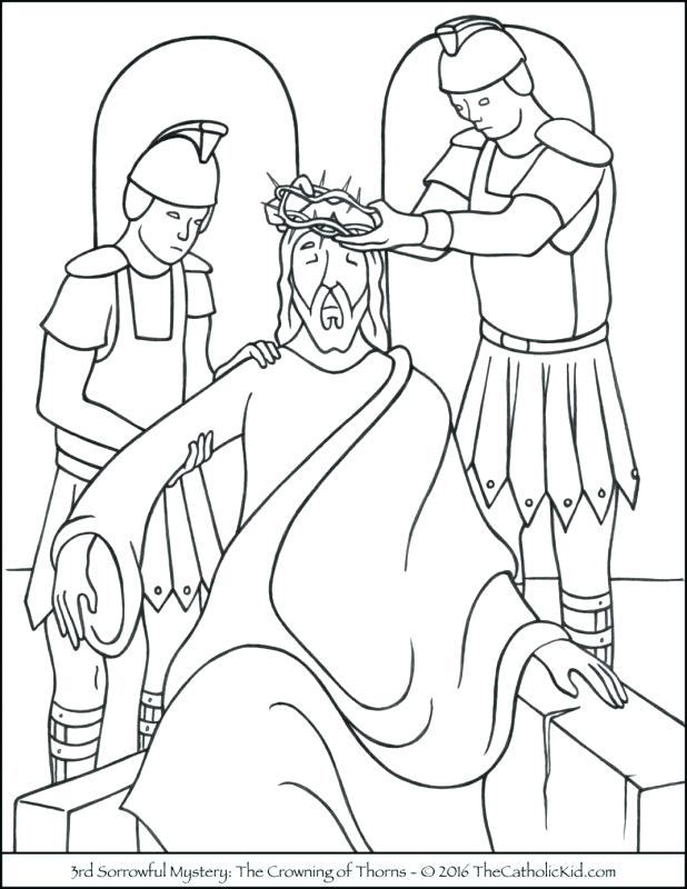 618x800 Rosary Beads Coloring Page Color Sheet Of Mary And Rosary