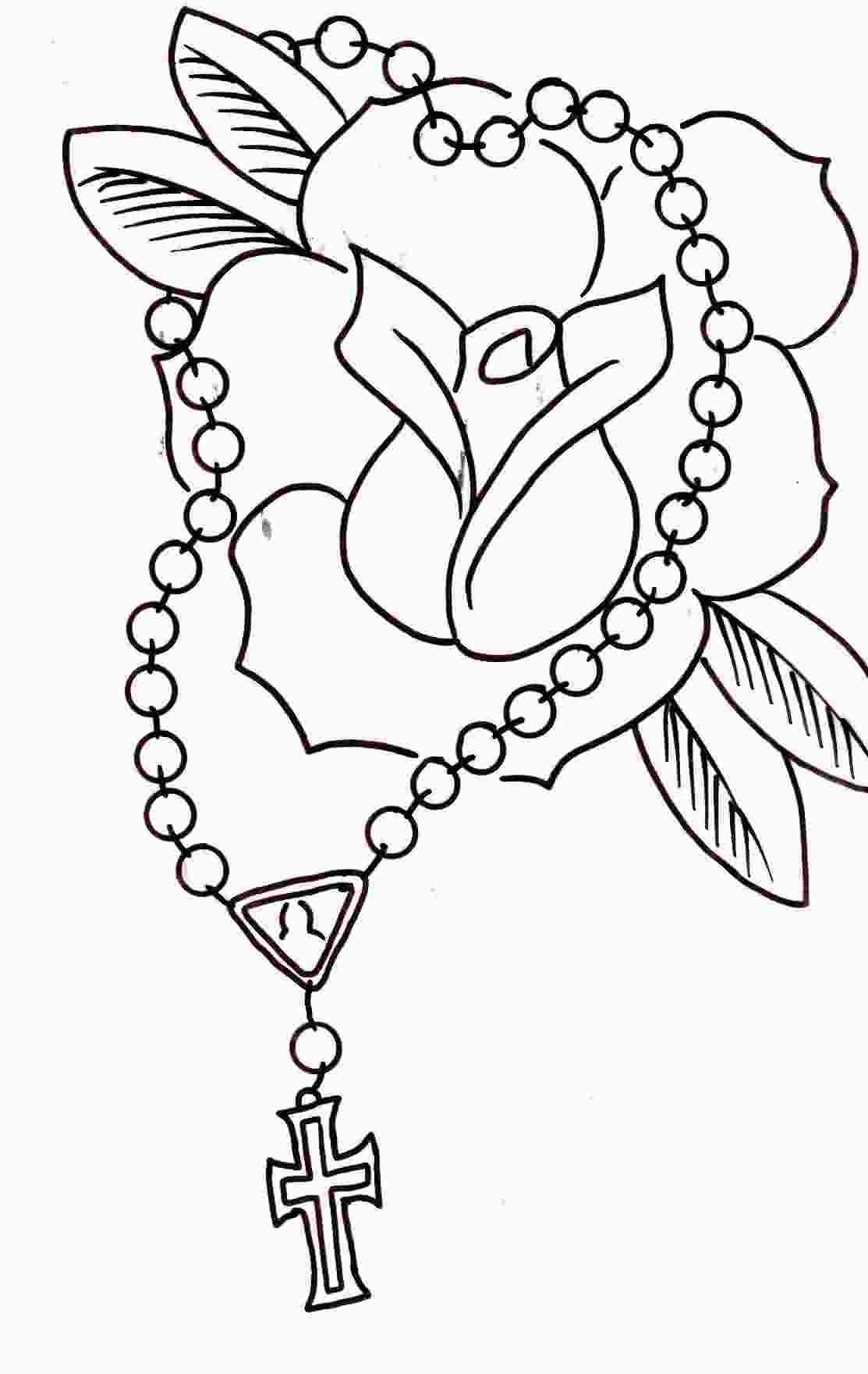 Rosary Cross Drawing at GetDrawings | Free download