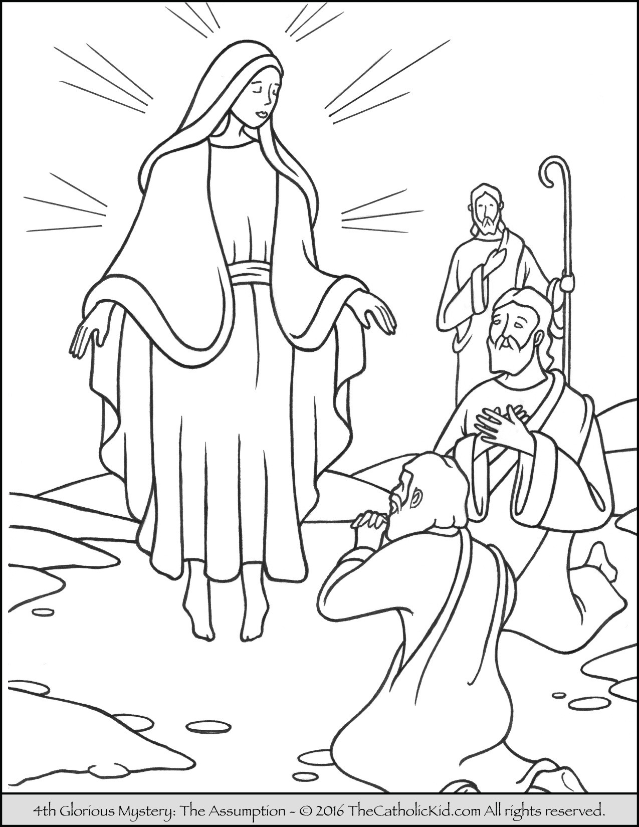 1275x1650 Rosary Coloring Pages For Free New Mysteries The Rosary Coloring