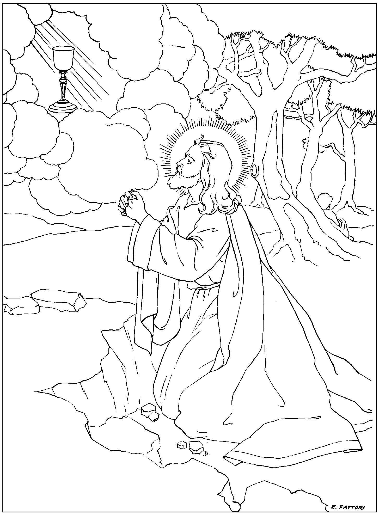 1454x1976 Rosary Coloring Pages