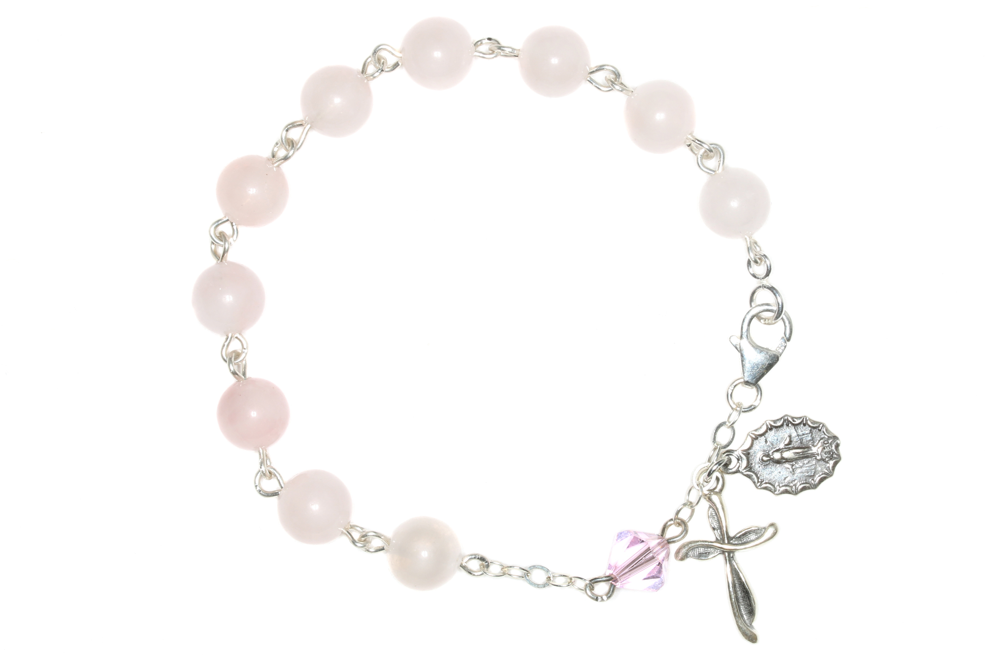 2000x1333 Rose Quartz Gemstone Rosary Bracelet Rose Quartz Rosary