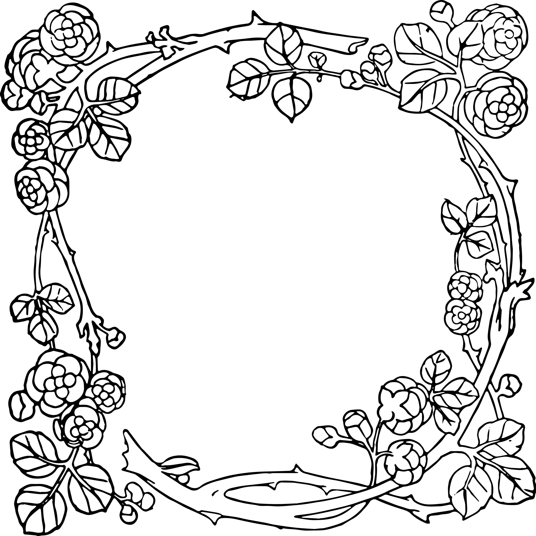 3046x3046 Vintage Flower Circle Art