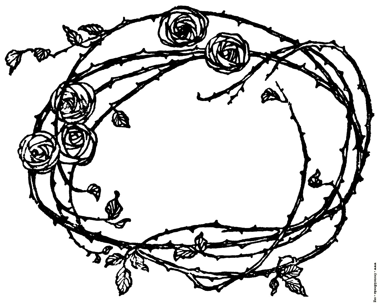 Rose Border Drawing at GetDrawings.com   Free for personal use Rose ...