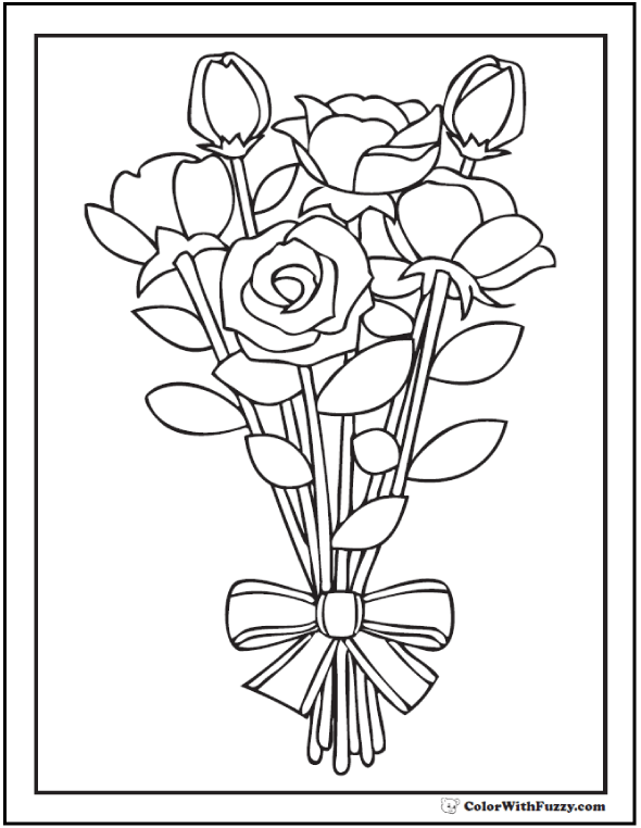 Rose Bouquet Drawing