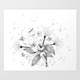 264x264 Rose Buds Art Prints Society6