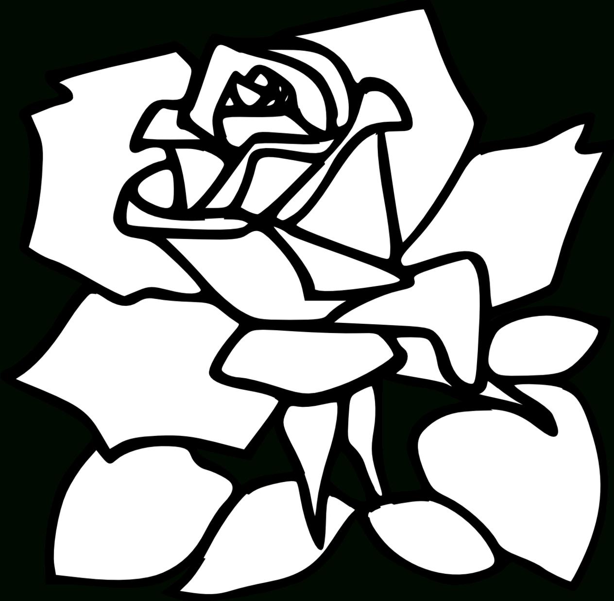 1264x1238 Rose Line Drawing Clip Art Rose Line Drawing Clip Art