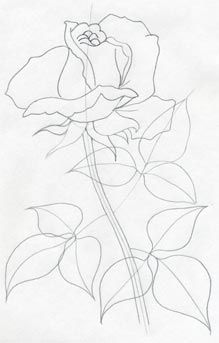 219x343 How To Draw A Rose Bud, Rose Bud, Step By Step, Flowers, Pop