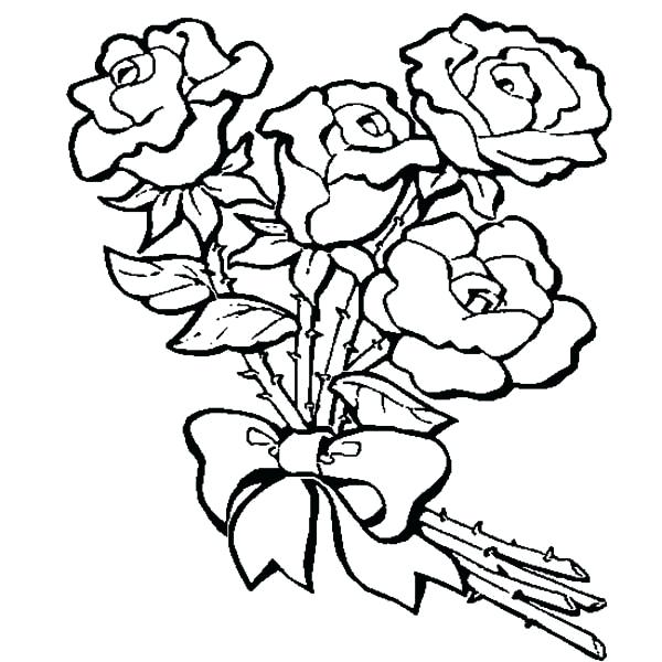 Rose Drawing Color at GetDrawings.com | Free for personal use Rose ...