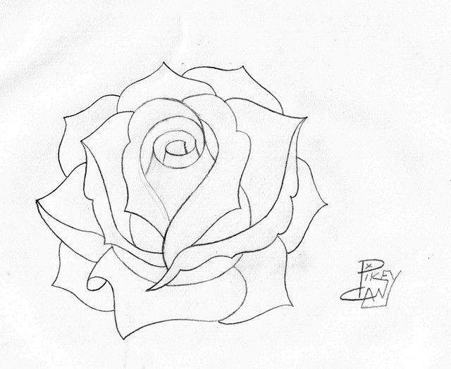 how to draw a blue sea rose