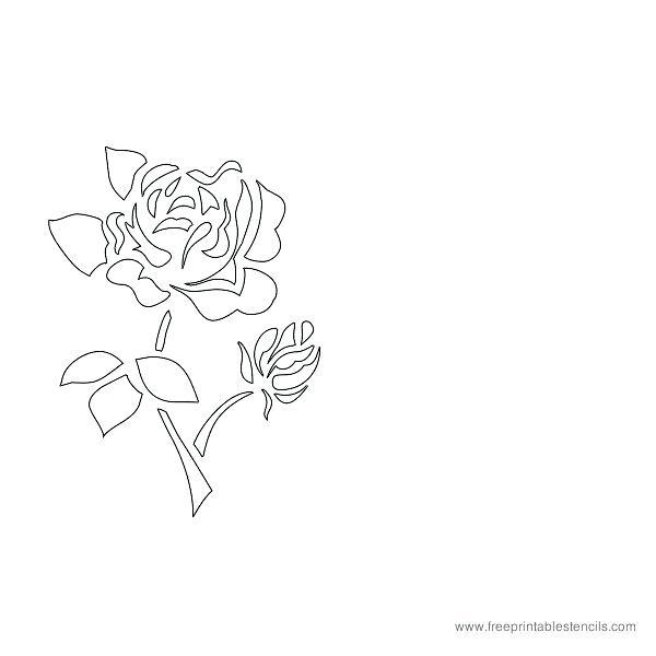 600x600 Printable Drawing Stencils Printable Rose Flower Stencil Media