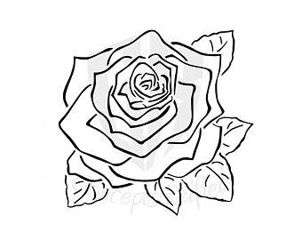 340x270 Rose Stencil Etsy Studio