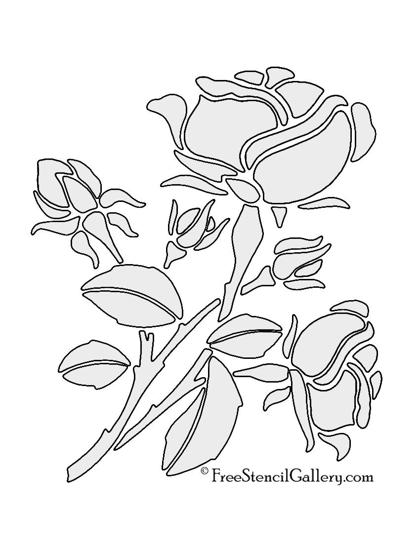 850x1100 Rose Stencil Free Stencil Gallery