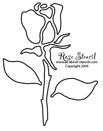 350x442 Rose Stencil Designs Free For You To Print And Use