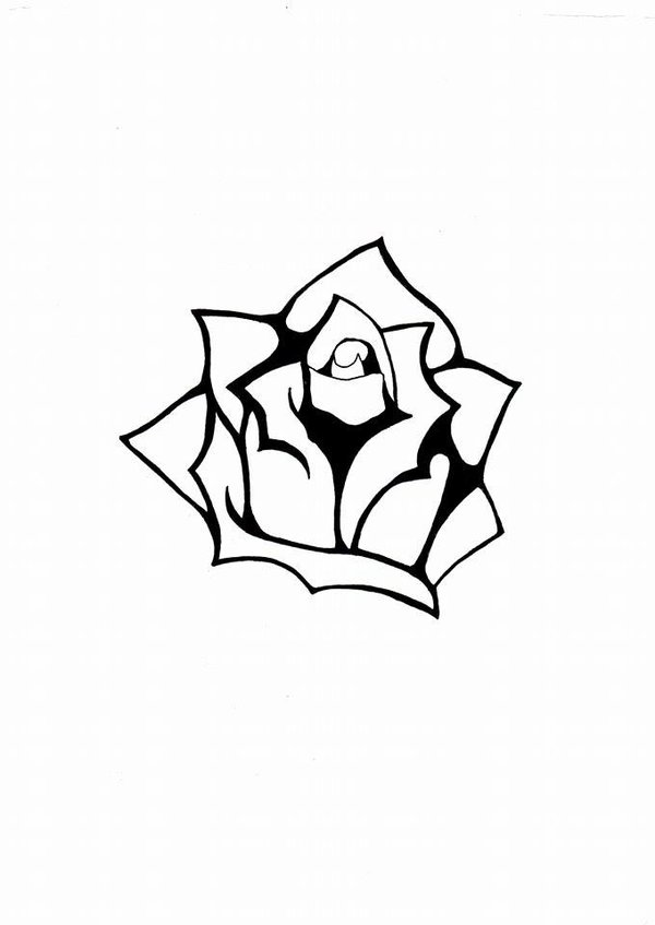 600x847 Rose Stencil By Monfee