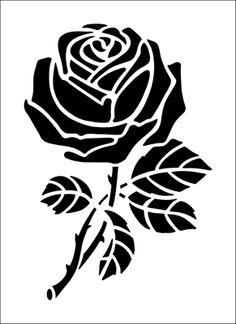 236x324 Rose Stencil On Flower Stencils, Glass Etching