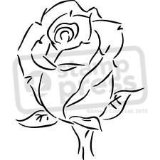 225x225 Large Rose Stencil Ebay