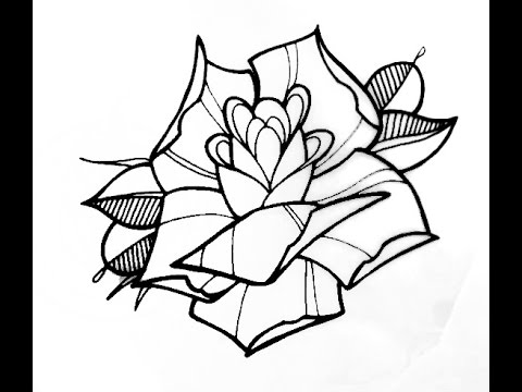 480x360 How To Draw A Tattoo Style Rose By Thebrokenpuppet