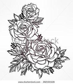 236x271 Blue Roses Drawing Vintage