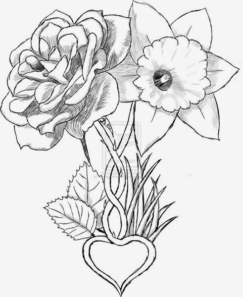 491x600 Flowers Drawings Tattoos Many Flowers