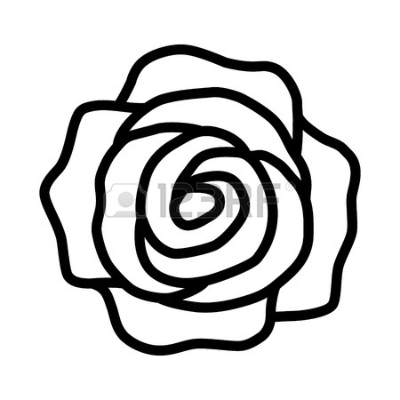 450x450 Rose Flower Or Romantic Rose Line Art Icon For Apps And Websites