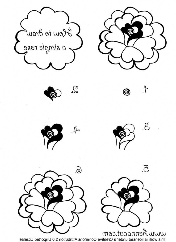 746x1024 How Draw A Realistic Rose Easy How