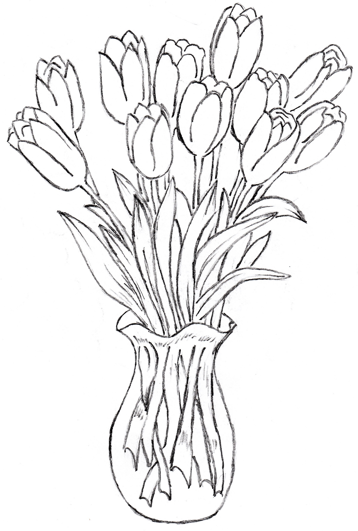 1400x2076 How To Draw Flower Vase Gallery