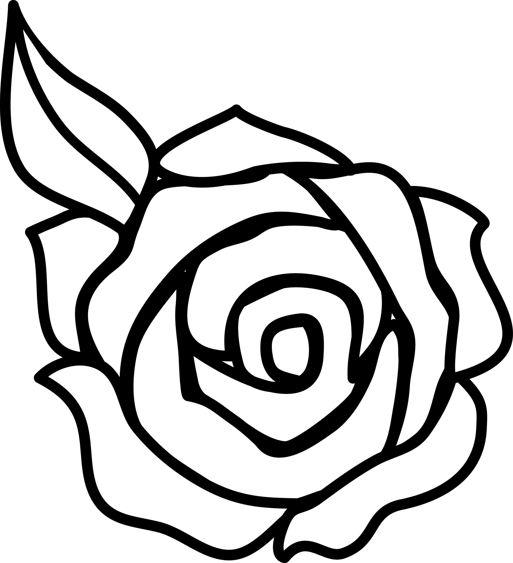 1787x1960 Rose Flower Drawing Easy Cefefbbcebfbb Adult