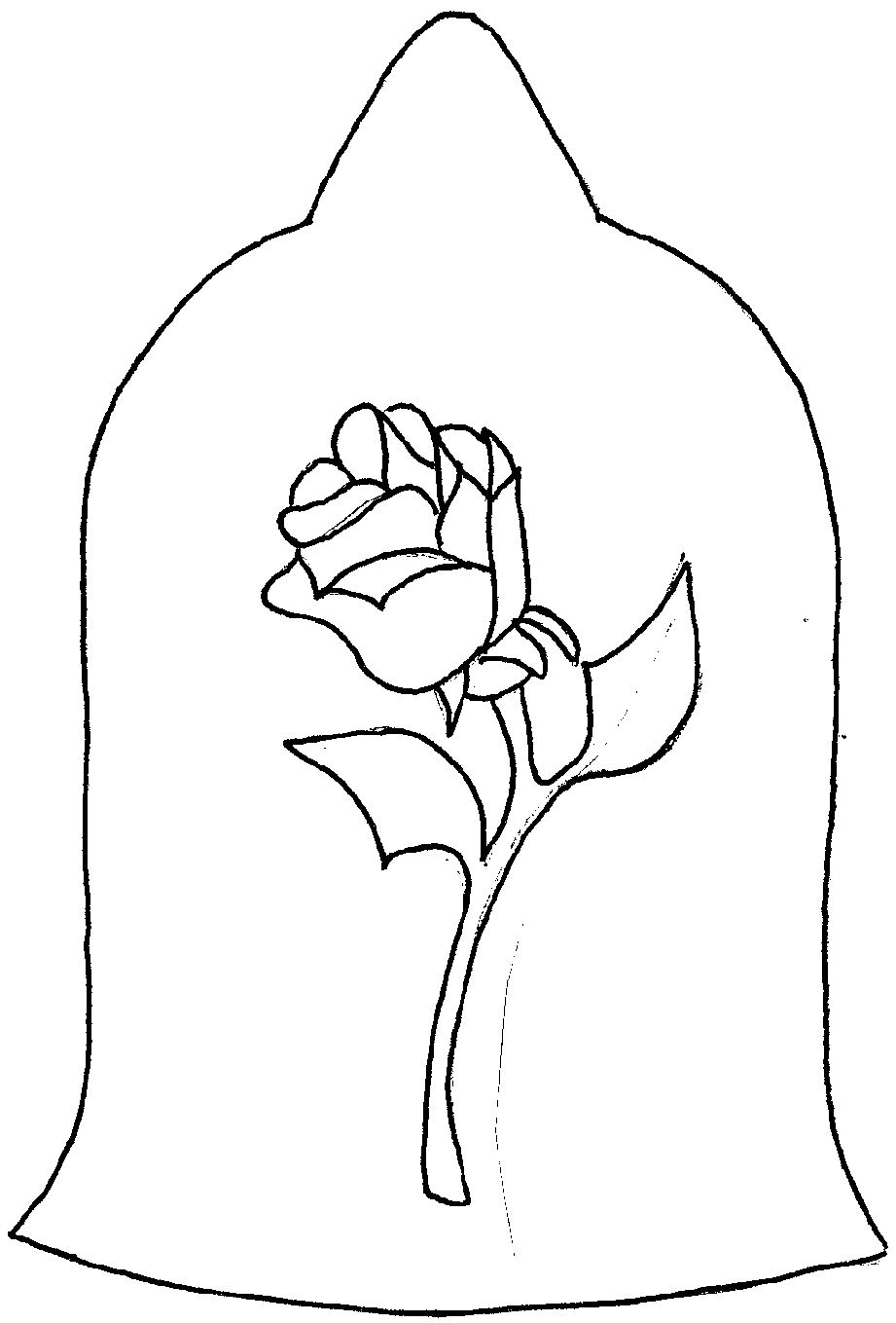 Enchanted Rose Drawing: Rose From Beauty And The Beast Drawing At GetDrawings