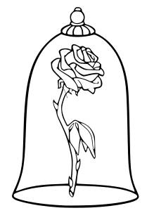219x313 Svg Disney Enchanted Rose Beauty And The Beast Rose Beast