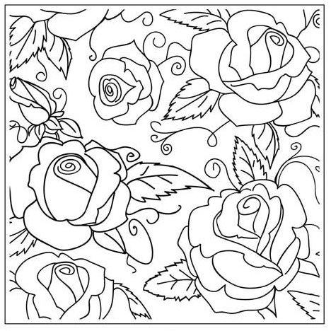 468x468 Gina Marie Rose Garden 5 X 5 Embossing Folder